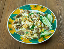 Machacado con huevo Stock Image