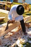 Machado de rapagem de madeira tradicional do método dos cumes franceses Fotos de Stock