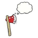 machado dos desenhos animados com bolha do pensamento Foto de Stock