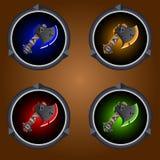 Machados dos ícones Foto de Stock Royalty Free