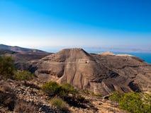 Machaerus (Mukawir), Jordão Fotografia de Stock Royalty Free