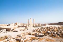 Machaerus (Mukawir) - Tempel. Jordanien. stockfotografie