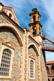 Machairas修道院的钟楼在塞浦路斯 免版税库存图片