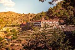 Machairas修道院,其中一个储的主要修道院 库存照片