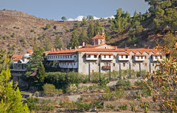 Machairas Monastery Cyprus. The Machairas Monastery, high in the Troodos mountains in Cyprus stock images