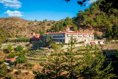 Machairas Monastery, a historic monastery dedicated to the Virgi Royalty Free Stock Images