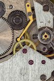 Machanism dell'orologio Fotografia Stock
