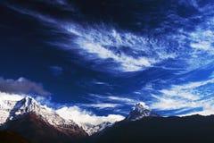 Machapuchare and Annapurna range, Nepal Royalty Free Stock Photography