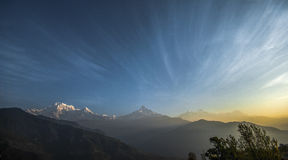 Machapuchare berg Arkivbilder