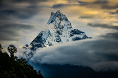 Machapuchare, Fishtail Mountain Stock Image