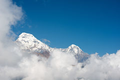 Machapuchare or Fishtail peak in Nepal Royalty Free Stock Photos
