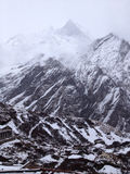 Machapuchare or Fishtail peak in Nepal Royalty Free Stock Photography