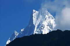Machapuchare lub Fishtail szczyt, Nepal obraz royalty free