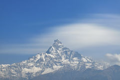 Machapuchare Mountain from Dhampus, Pokhara, Nepal. Stock Photography