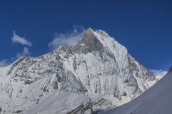 Machapuchare. Mountain (fish tail mountain), Nepal Stock Images