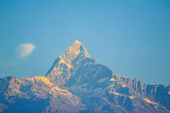 Machapuchare mountains in the morning in Pokhara,Nepal Stock Image