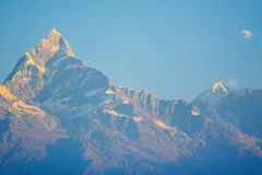 Machapuchare mountains in Pokhara,Nepal Royalty Free Stock Photo