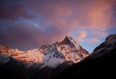 Machapuchhre (Fishtail) Peak Royalty Free Stock Photos