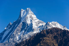 The Machapuchre in the Annapurna region Stock Photos