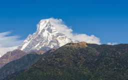 The Machapuchre in Nepal Royalty Free Stock Images