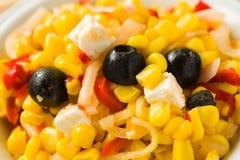 Mache-Salat auf weißem Hintergrund Lizenzfreie Stockbilder