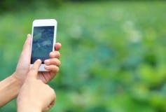 Machen des Fotos mit Mobiltelefon Lizenzfreie Stockfotografie