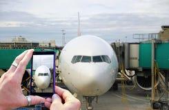 Machen eines einfachen Fotos Lizenzfreies Stockbild