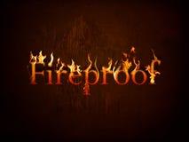 Machen Sie auf Feuer feuerfest Stockfotos