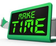 Machen Sie die Stempeluhr-Durchschnitte, die gepasst werden in, welche Angelegenheiten Stockfoto