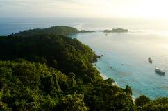 Machen Sie ein Foto morgens des Standpunkts in Similan-Inseln Lizenzfreies Stockfoto