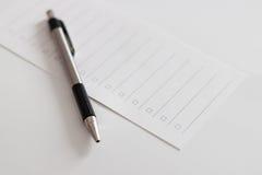 Machen Sie eine Liste Lizenzfreie Stockbilder