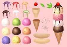Machen Sie Eiscreme durch Ihr Design - Sammlung 1 Lizenzfreies Stockbild