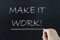 Machen Sie es Arbeitsmotivation lizenzfreies stockbild