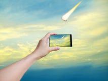 Machen Sie Fotos des Meteorits lizenzfreie stockbilder