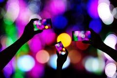 Machen Sie Fotos des Neons Stockfotos