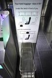 Machen Sie Gepäck-messende Station weiter Lizenzfreies Stockbild