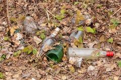 Machen Sie - Glasflaschen herunter stockbilder