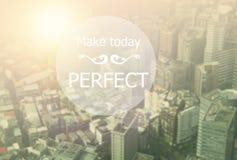 Machen Sie heute perfekt lizenzfreies stockbild