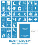 Machen Sie Ihre eigenen Gesundheits- und Sicherheitszeichen Lizenzfreies Stockfoto