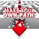 Machen Sie Ihren eigenen Weg-Pfeil durch Maze Independent Original Route Stockbilder