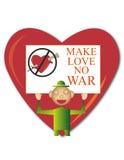 Machen Sie Liebe keinen Krieg Lizenzfreies Stockbild