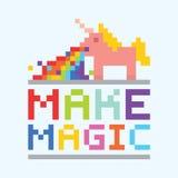 Machen Sie magische Einhornillustration Stockbild