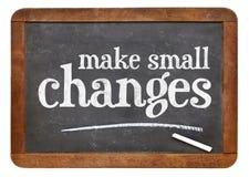 Machen Sie Rat der kleinen Veränderungen Stockfoto