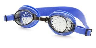 Machen Sie Schwimmen-Schutzbrillen naß Stockbilder