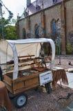 Machen Sie Stall in der kreativen Stadt von Santa Fe New Mexiko USA in Handarbeit Stockbild