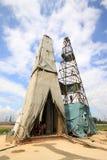 Tour de perçage dans le mien de fer de MaCheng, comté de Luannan, Hebei pro Image libre de droits