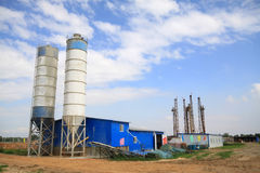 Drilling derrick in MaCheng iron mine, Luannan County, Hebei Pro. MaCheng July 12: Drilling derrick in MaCheng iron mine on July 12, 2012, Luannan County, Hebei Stock Image