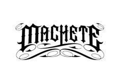 Machete Crew Logo. White background vector format available ai vector illustration