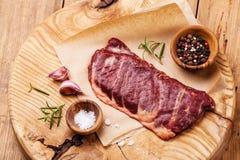 Machete cru do bife da carne fresca Imagens de Stock