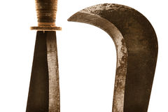 Machete oxidado Fotografia de Stock Royalty Free